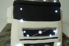 lorry cake with lights